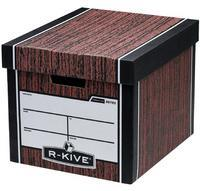 Fellowes R-Kive Premium Presto Storage Box Woodgrain 00725-FFLP